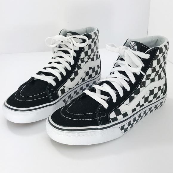 6b4b25983c5ef5 Vans SK8 Hi Checkerboard Skate Shoe
